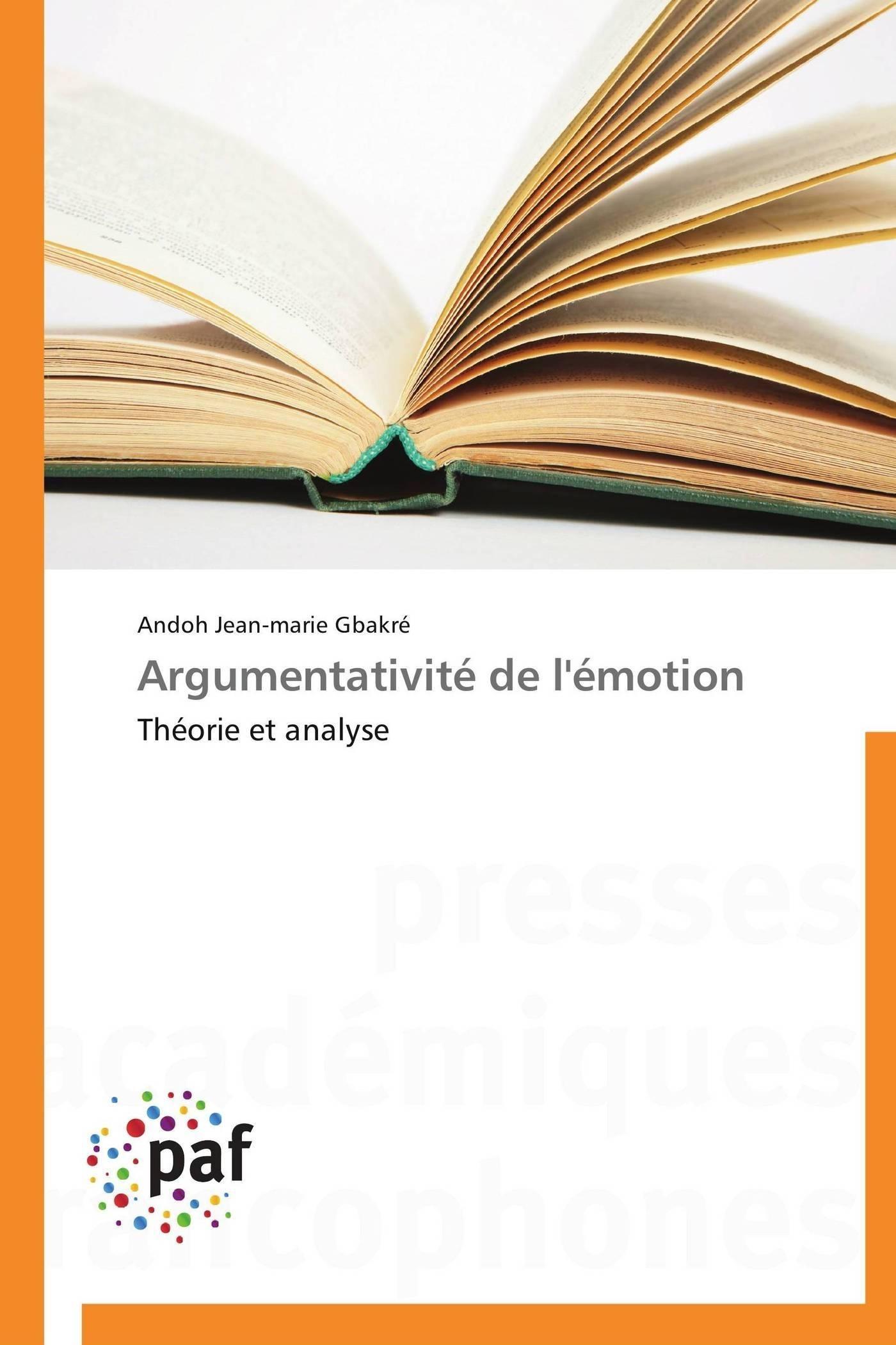 ARGUMENTATIVITE DE L'EMOTION