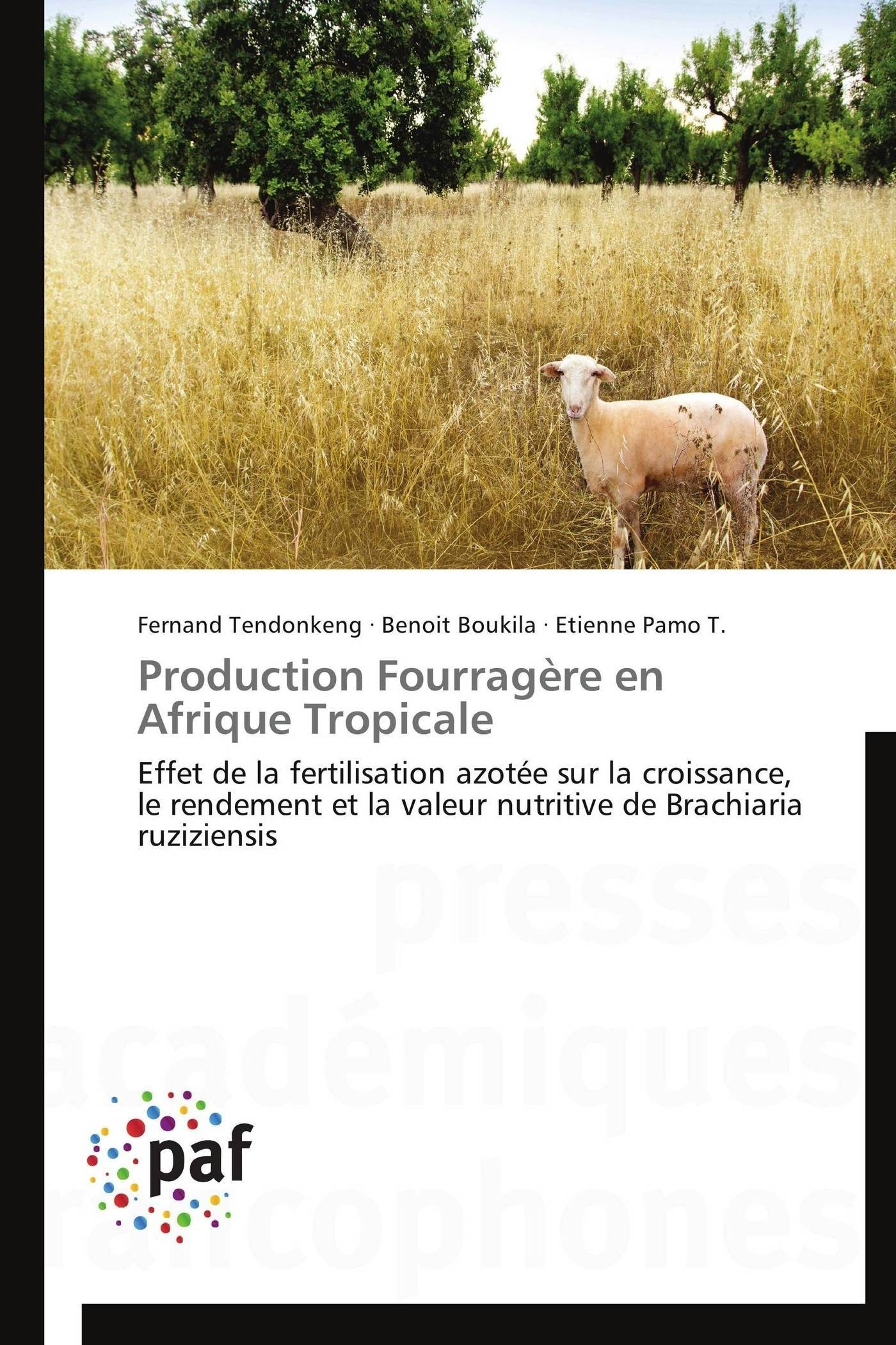 PRODUCTION FOURRAGERE EN AFRIQUE TROPICALE