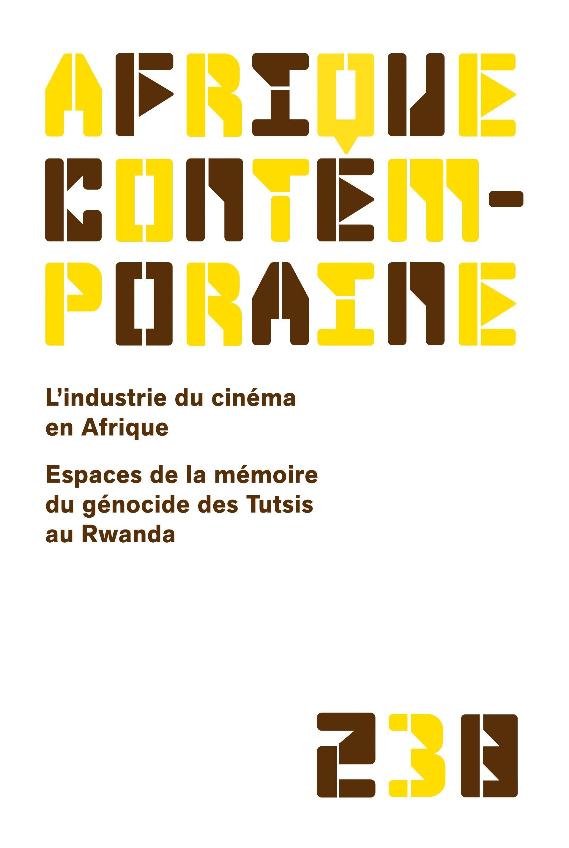 AFRIQUE CONTEMPORAIRE 2011/2 N.238