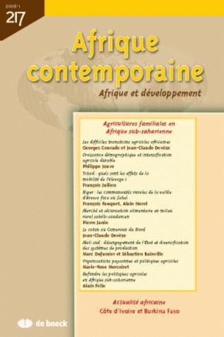 AFRIQUE CONTEMPORAINE 2006/1 N.217