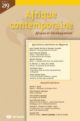 AFRIQUE CONTEMPORAINE 2006/3 N.219