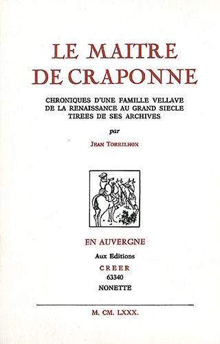 LE MAITRE DE CRAPONNE