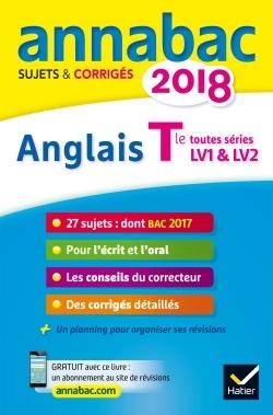 ANNALES ANNABAC 2018 ANGLAIS TLE LV1 ET LV2
