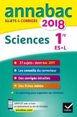 ANNALES ANNABAC 2018 SCIENCES 1RE ES, L
