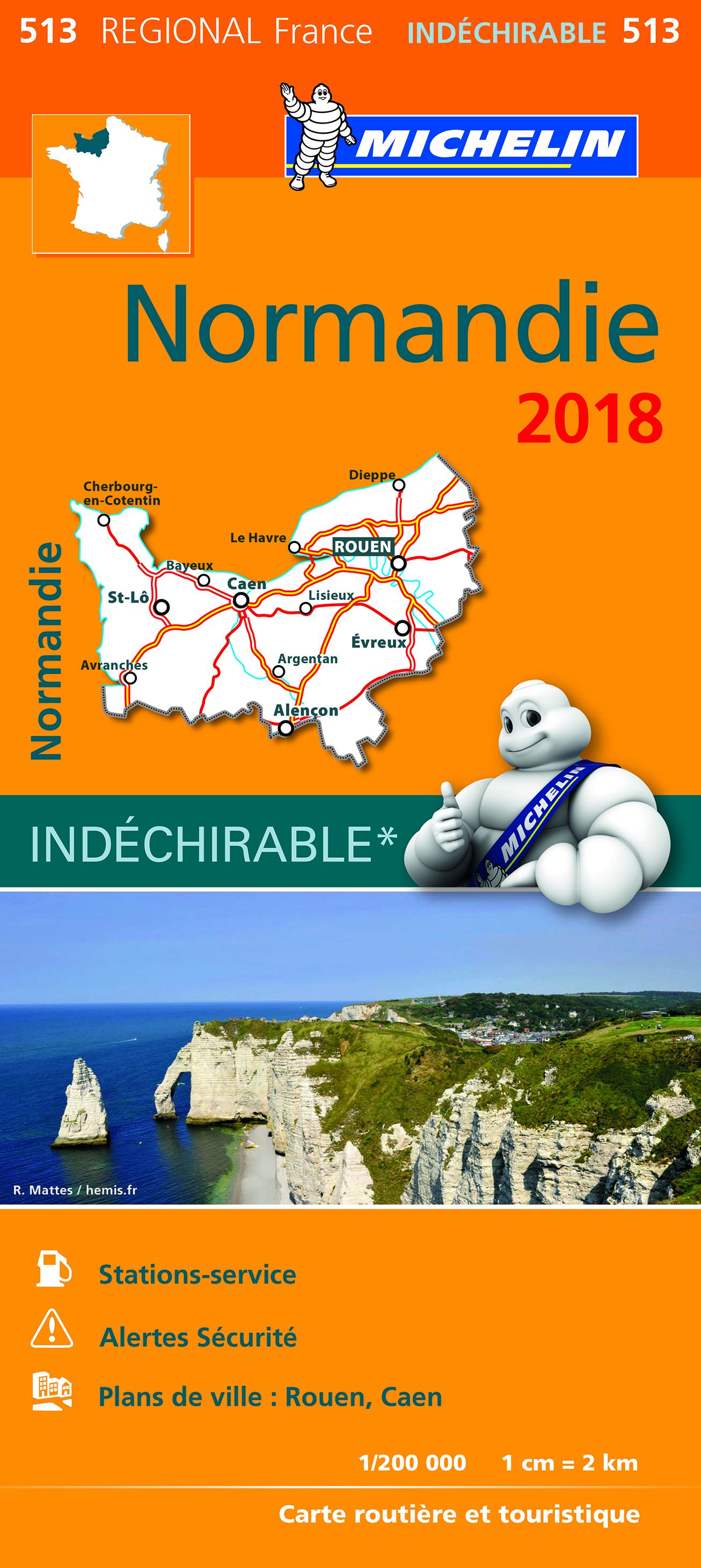 CARTE REGIONALE 513 NORMANDIE 2018