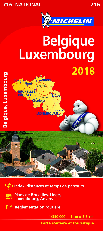 CARTE NATIONALE 716 BELGIQUE, LUXEMBOURG 2018