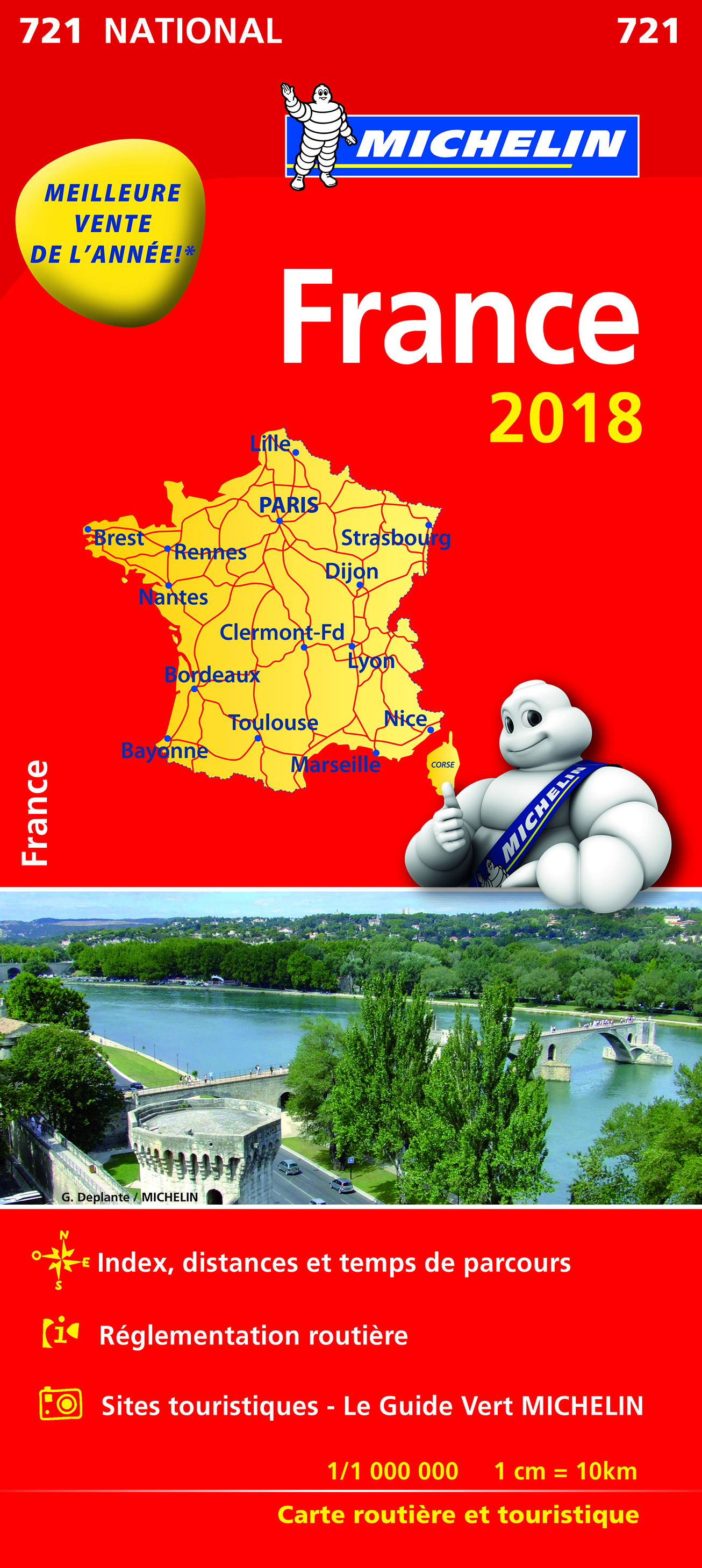 CARTE NATIONALE 721 FRANCE 2018
