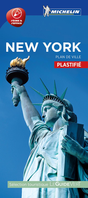NEW YORK - PLAN DE VILLE PLASTIFIE