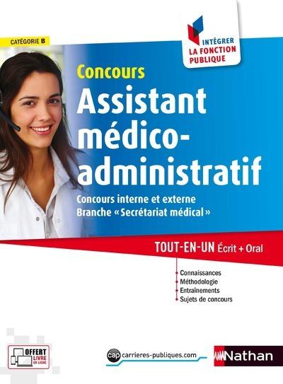 CONCOURS ASSISTANT MEDICO-ADMINISTRATIF CATEGORIE B N24 INTEGRER LA FONCTION PUBLIQUE 2017