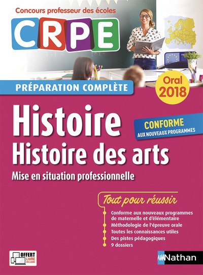 HISTOIRE - HISTOIRE DES ARTS - ORAL (PREPARATION COMPLETE) - CONCOURS PROFESSEUR DES ECOLES - 2018