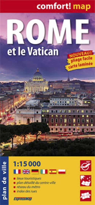 ROME ET LE VATICAN  1/15.000 (COMFORT !MAP)