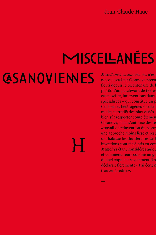 MISCELLANEES CASANOVIENNES