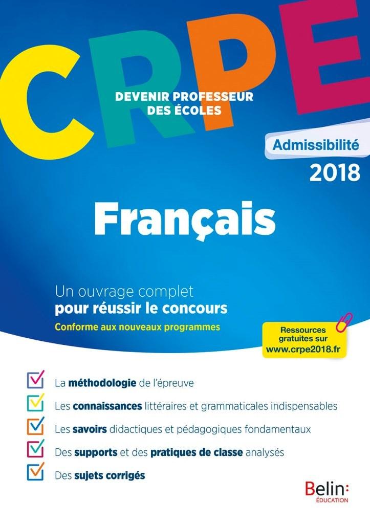 CRPE ADMISSIBILITE 2018 FRANCAIS