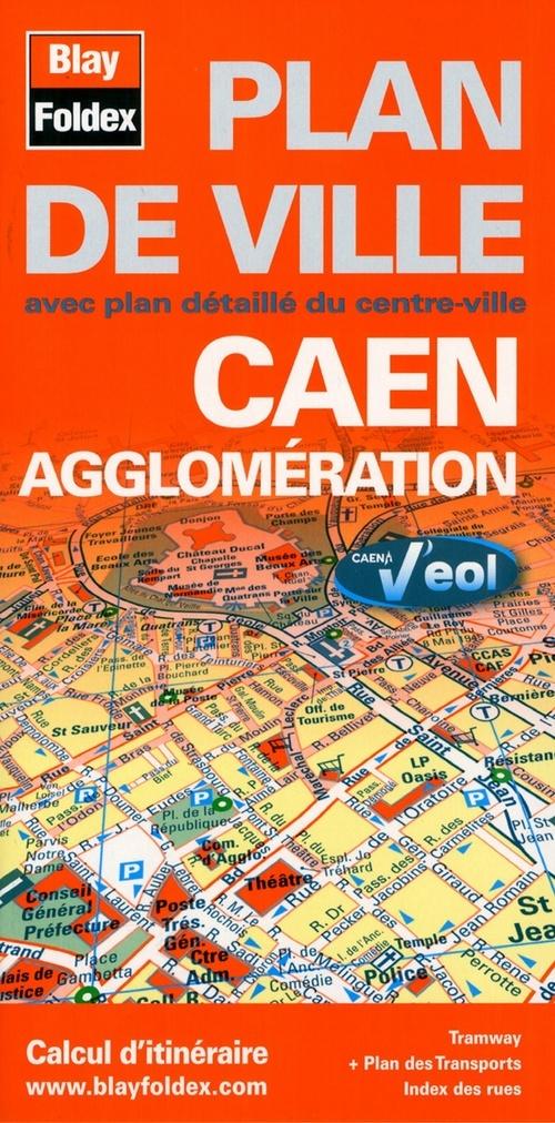 CAEN AGGLOMERATION (14) - PLAN DE VILLE - 1/12 500
