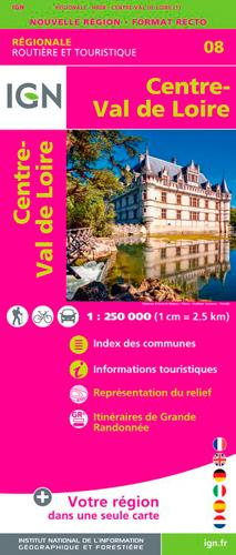 NR08 CENTRE-VAL DE LOIRE  1/250 000