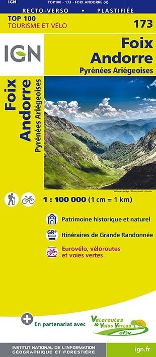 TOP100173 FOIX/ANDORRE  1/100.000