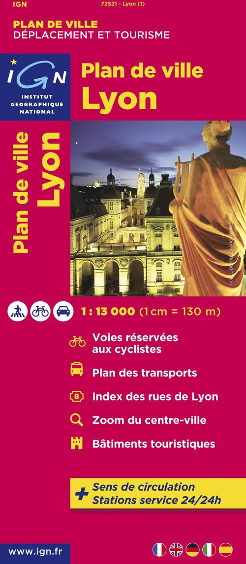72521 PLAN DE LYON/VILLEURBANNE  1/13.000