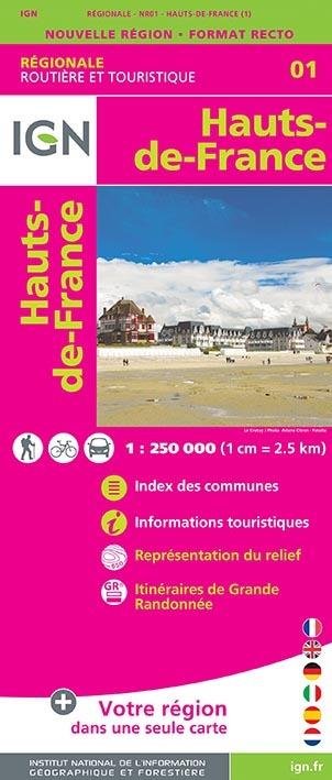 NR01 HAUTS-DE-FRANCE 1/250 000