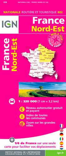 1M802 FRANCE NORD-EST 2018 (1 : 320 000)