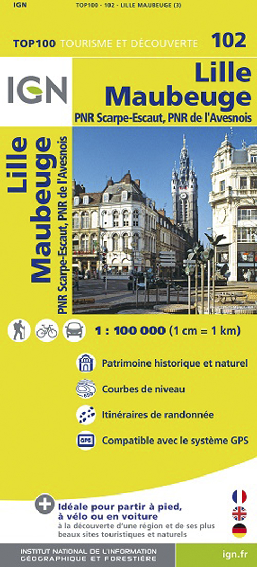 TOP100102 LILLE/MAUBEUGE  1/100.000