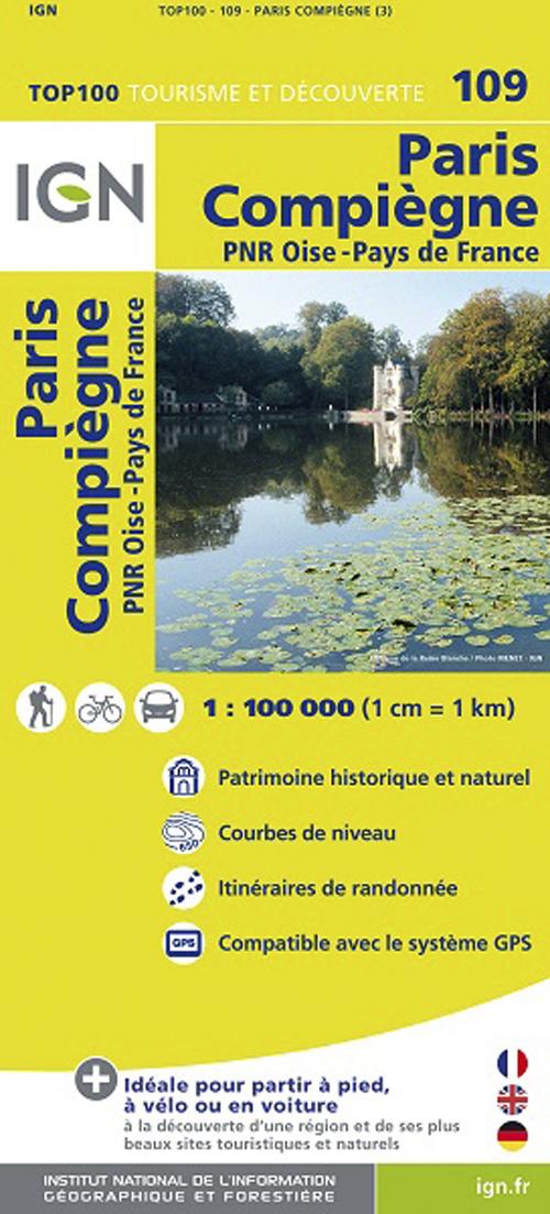 TOP100109 PARIS/COMPIEGNE  1/100.000