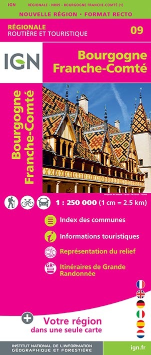 NR09 BOURGOGNE FRANCHE-COMTE  1/250 000