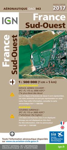 OACI943 FRANCE SUD-OUEST 2017 1/500.000