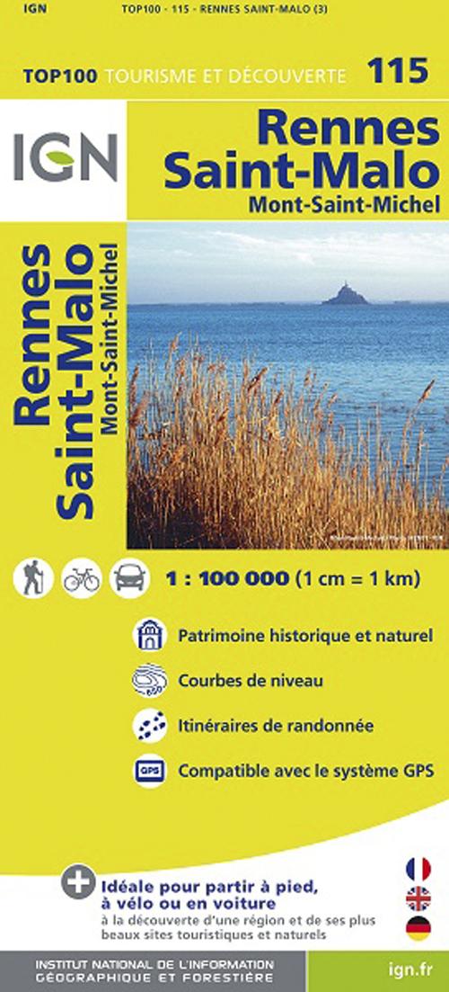 TOP100115 RENNES/SAINT-MALO  1/100.000