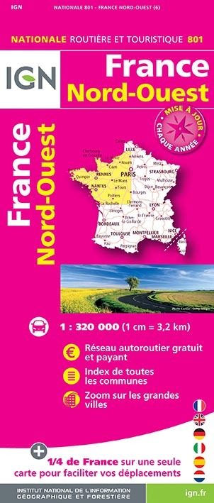 1M801 FRANCE NORD-OUEST 2018 (1 : 320 000)