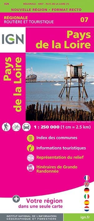NR07 PAYS DE LA LOIRE  1/250 000