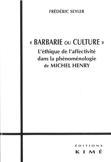 BARBARIE OU CULTURE