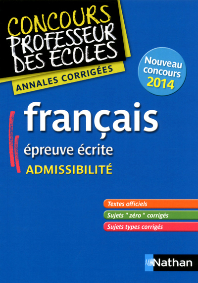 FRANCAIS ADMISSIB ANNALES CORR