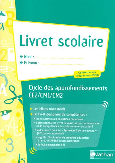 LIVRET SCOLAIRE CYCLE 3