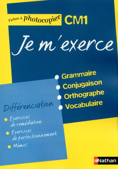 JE M'EXERCE CM1 - FICHES DIFFE