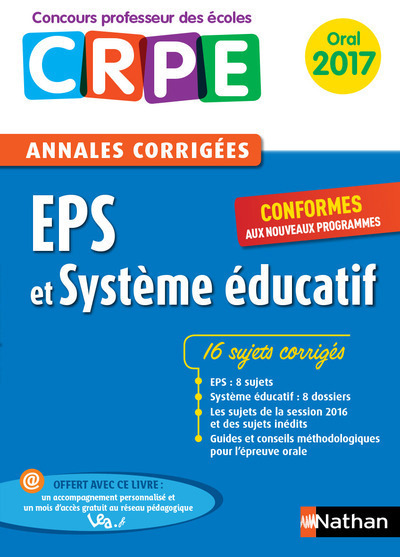 EPS ET SYSTEME EDUCATIF - ANNALES CORRIGEES 2017