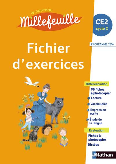 LE NOUVEAU MILLEFEUILLE FICHIER D'EXERCICES CE2 2017