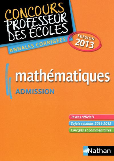 MATHS ADIMIS ANNALES CORR 2013