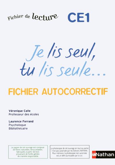 JE LIS SEUL CE1 -AUTOCORRECTIF