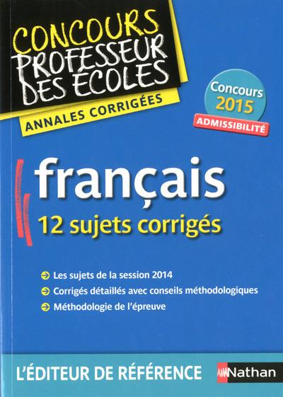 FRANCAIS - ADMISSIBILITE 2015