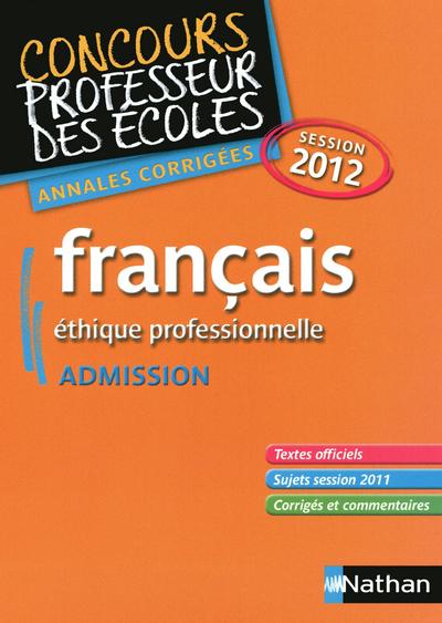 FRANCAIS CRPE 2012 ANNALES COR