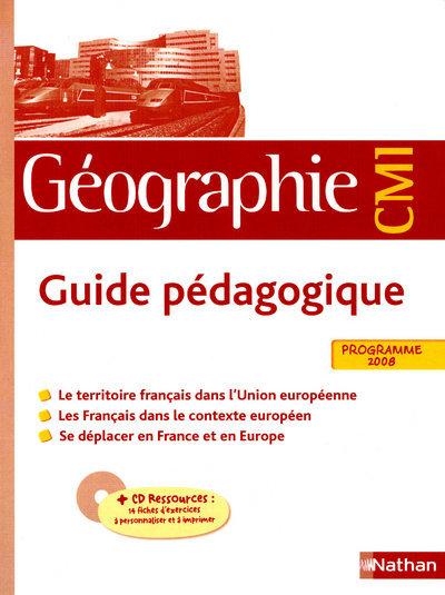 GEOGRAPHIE CM1 MAITRE + CD