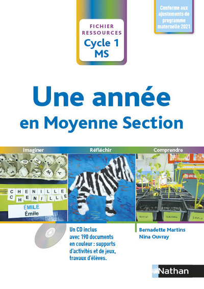 UNE ANNEE EN MOYENNE SECTION 2015 + CD - FICHIER RESSOURCES CYCLE 1 MS