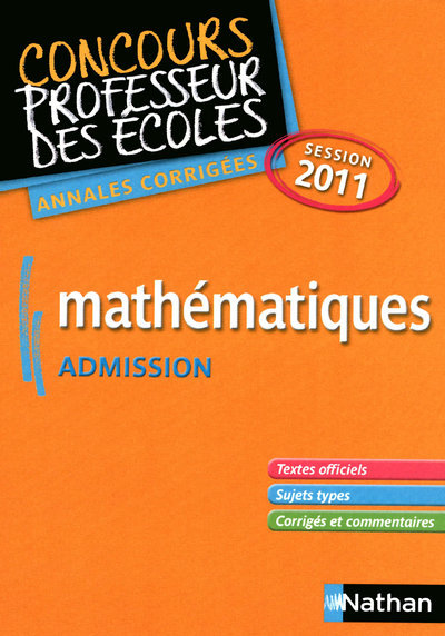 MATHS - CRPE ADMISSION 2011