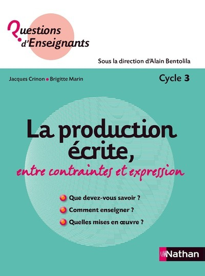 PRODUCTION ECRITE CYCLE 3