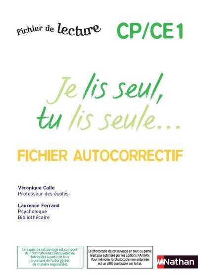 JE LIS SEUL-AUTOCORRECT-CP/CE1