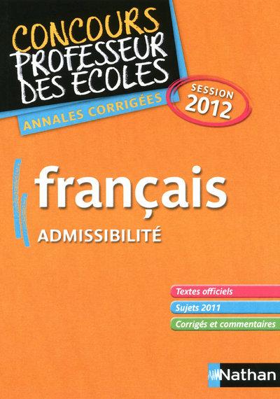 FRANCAIS CRPE 2012 ADMISSIBILE