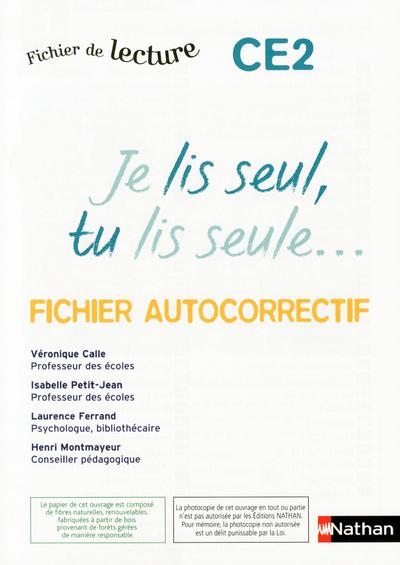 JE LIS SEUL - AUTOCORRECTIF -C