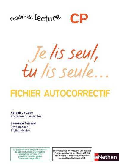 JE LIS SEUL -AUTOCORRECTIF- CP