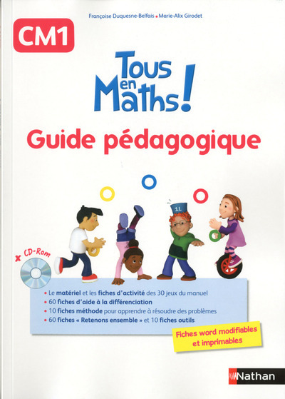 TOUS EN MATHS CM1 - GUIDE PEDAGOGIQUE + CD ROM