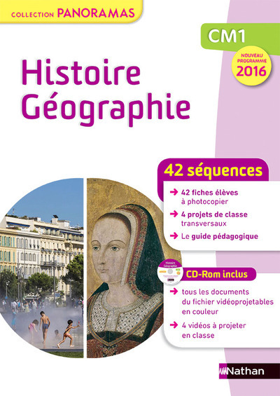 PANORAMAS - HISTOIRE GEOGRAPHIE CM1 FICHIER + CD 2016